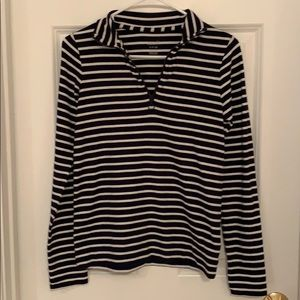 Aerie Lounging striped top blue/white size S